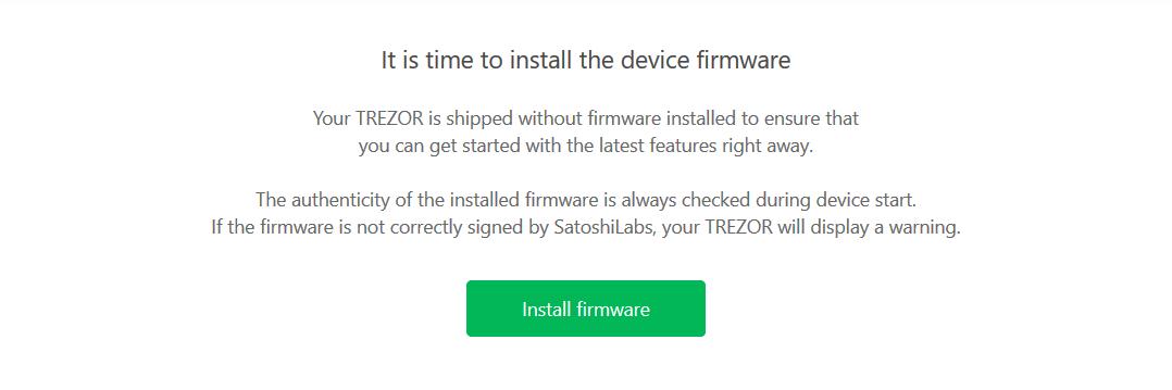 Trezor One - Firmware Install